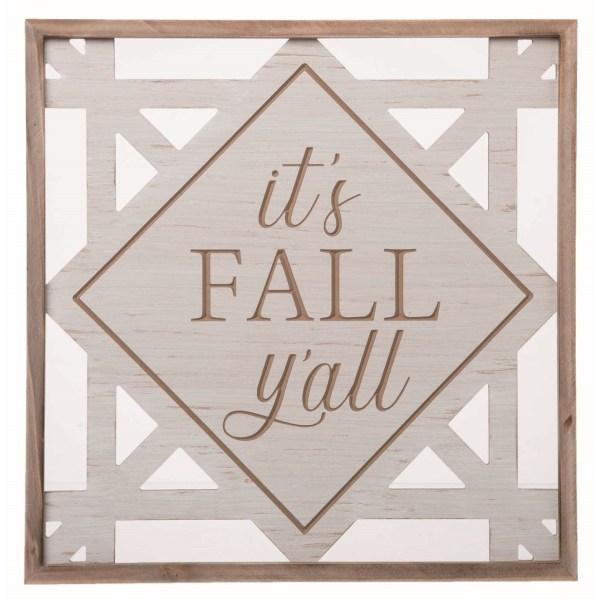 panneau it's fall y'all en bois