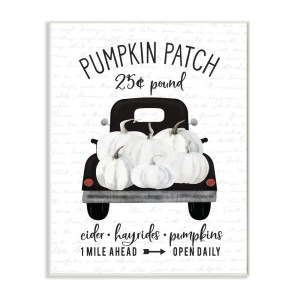 panneau white truck pumpkin