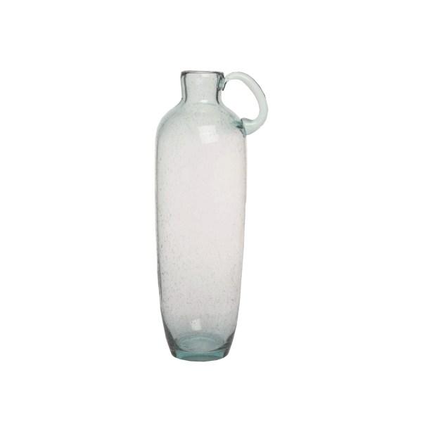 vase en verre avec poignée