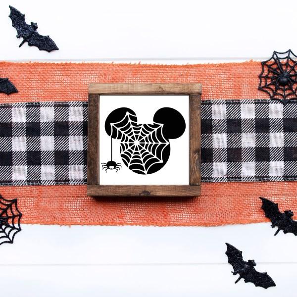 panneau mickey farmhouse halloween