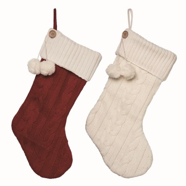 chaussettes de noel rouges et blanches