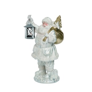 statue pere noel blanc