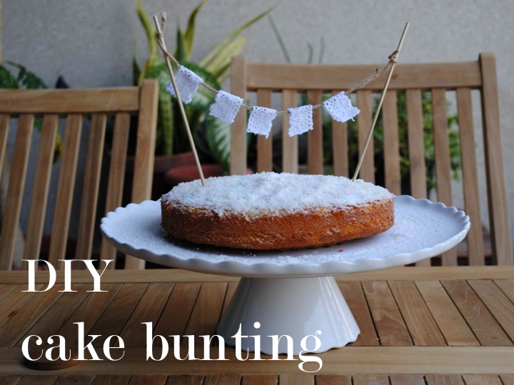 DIY cake bunting ♥