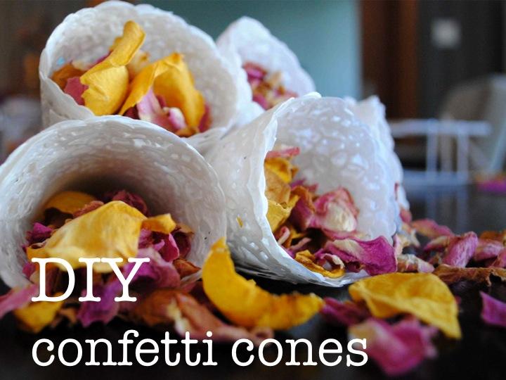DIY confetti cones ♥