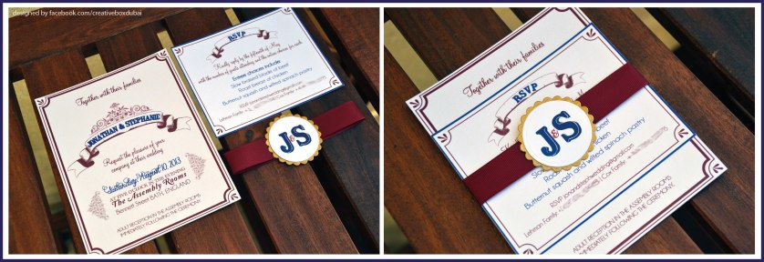 Wedding invitations by Creative Box ♥