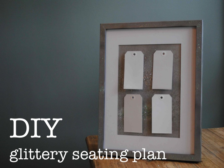 DIY A very glittery seating plan ♥
