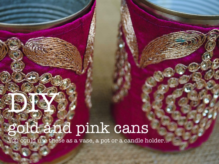 DIY GOLD AND PINK CANS ♥