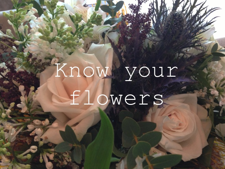 know your flowers…