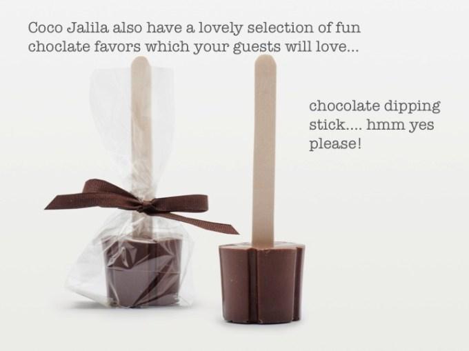 DIY Chocolate wedding favors