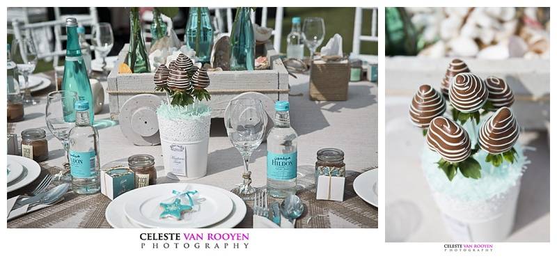 A pretty seaside themed Dubai wedding