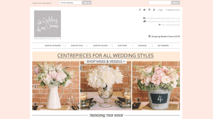 Shop online for your big day…