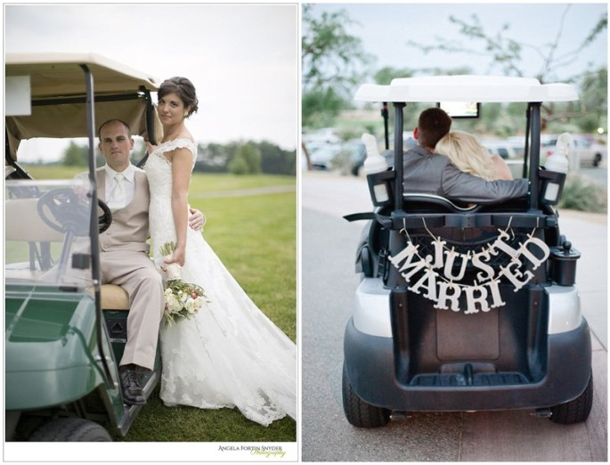 A Golf themed wedding?
