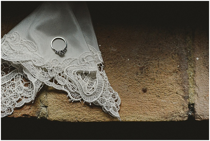 Rustic wedding in Tuscany - Featured on My Lovely Wedding Blog. - wedding ring photographed on lace
