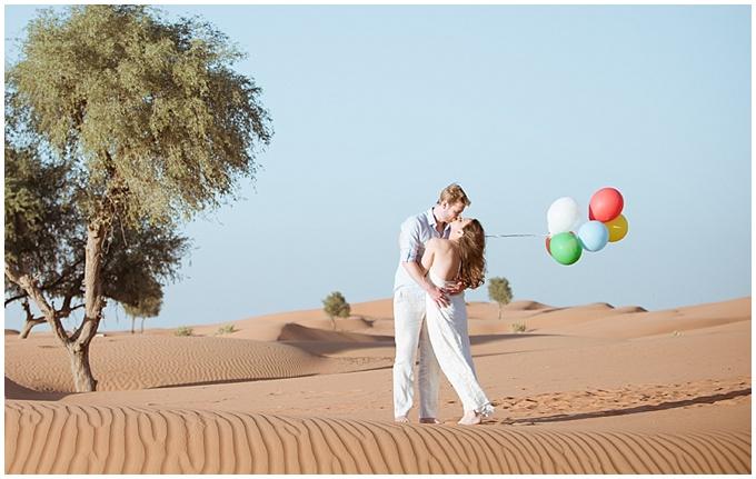 Photography by Bernard Richardson - Dubai engagement shoot in the desert
