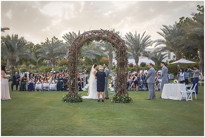 Sophia & Mark's Dubai wedding at The Address Montgomerie, Dubai. Styling by Lovely Styling.