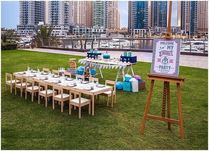Dubai Marina Yacht Club - Styled shoot for a kids birthday