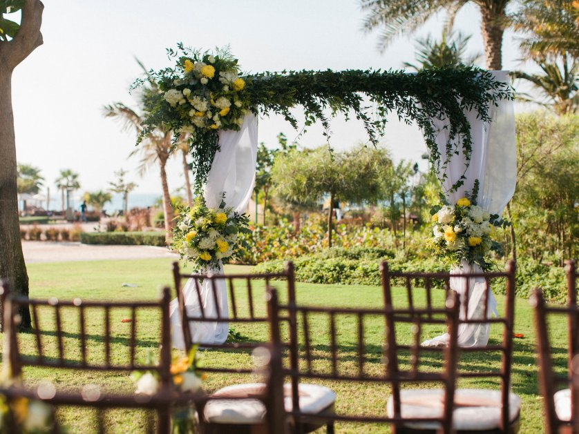 An intimate wedding at Ritz Carlton, JBR Dubai. {Photography by Maria Sundin}