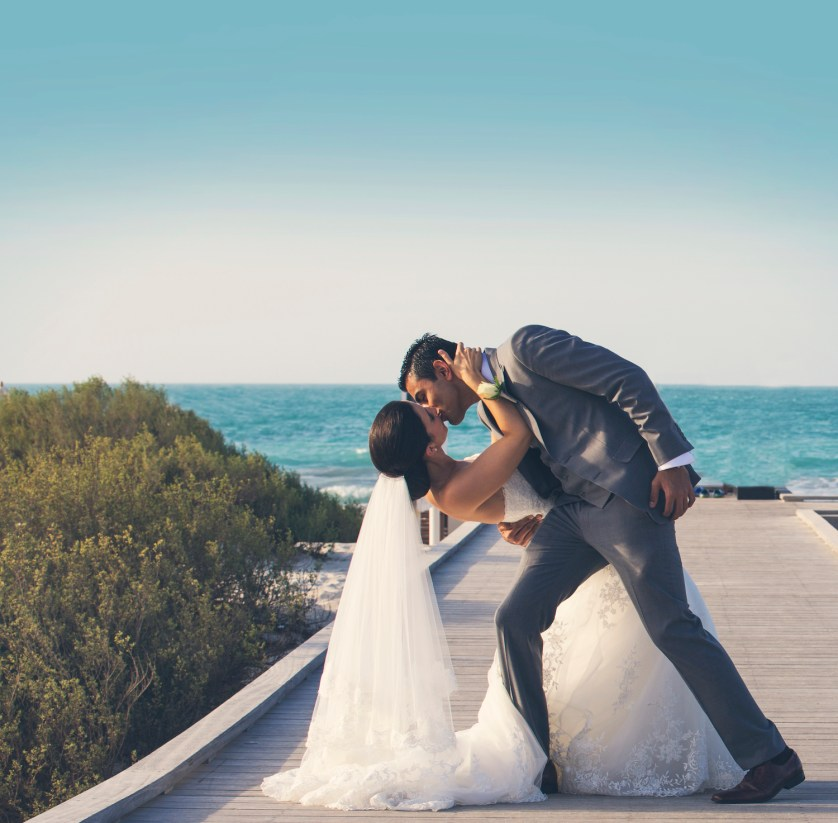 Beth and Melroy's beautiful beach wedding at Saadiyat Beach Club, Abu Dhabi {Photography by Goldfish Photography & Video}