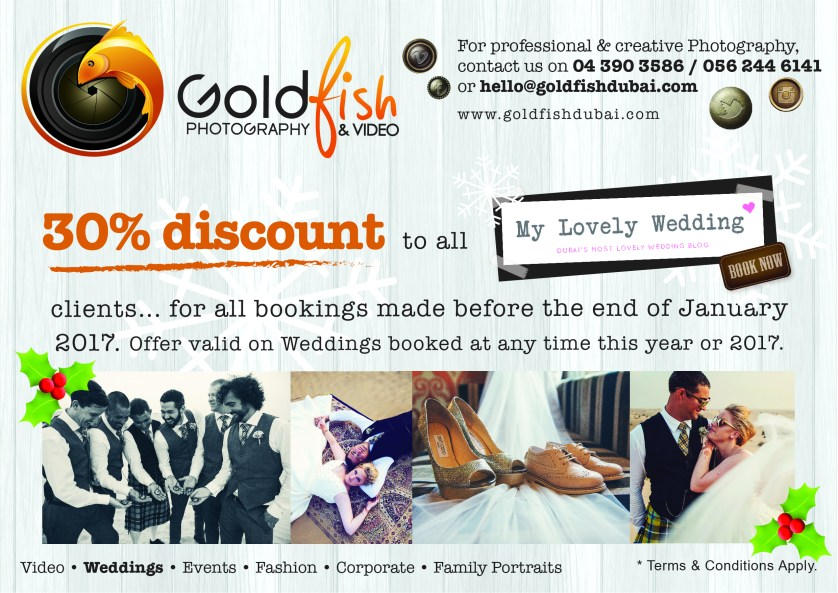 Another lovely discount from Goldfish Photography + Video – 30% off for MLW readers!