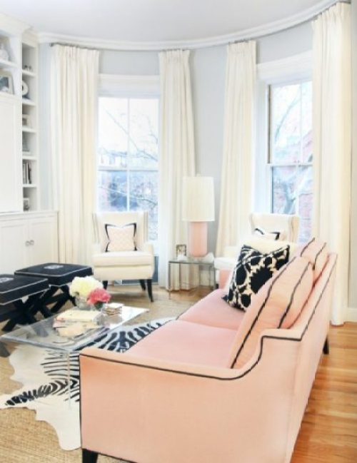 """Pink Living Room"""