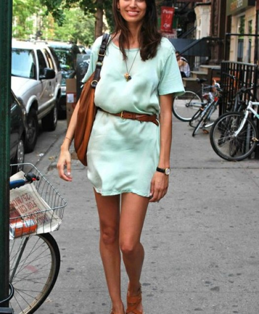 """Mint Dress with Belt"""