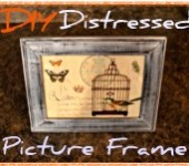 DIY Distressed Picture Frame