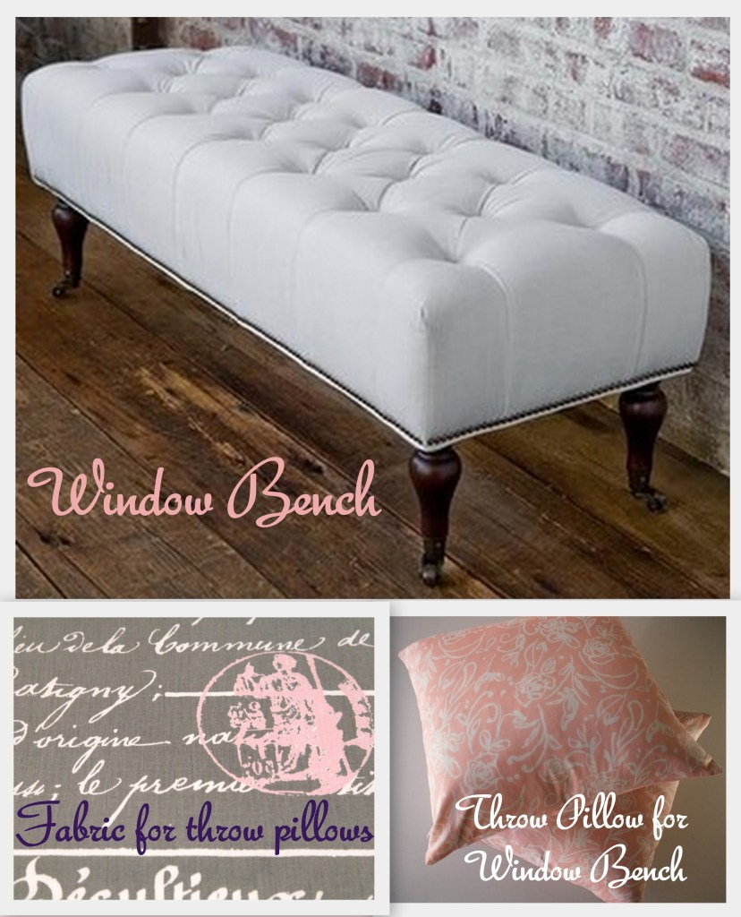 """""""Window Bench and Throw Pillows"""""""