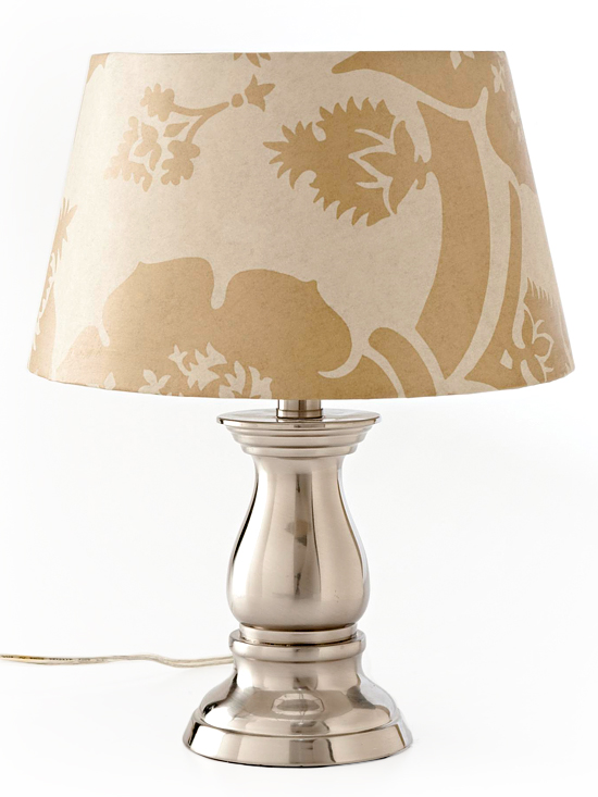 """Recover lampshade with wallpaper"""