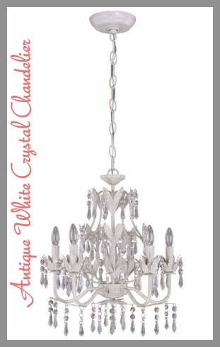 """""""antique white crystal chandelier"""""""