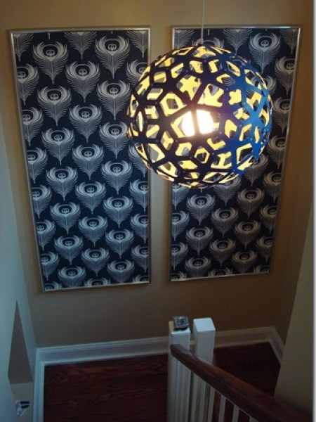 """DIY Wallpaper Framed Panels"""