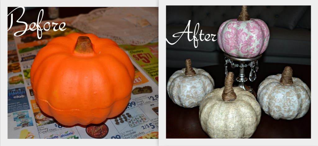 """Pumpkin Before and After"""
