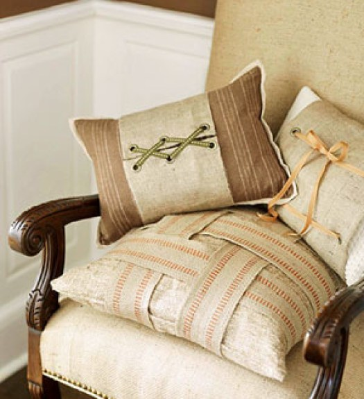"""Burlap Pillows"""