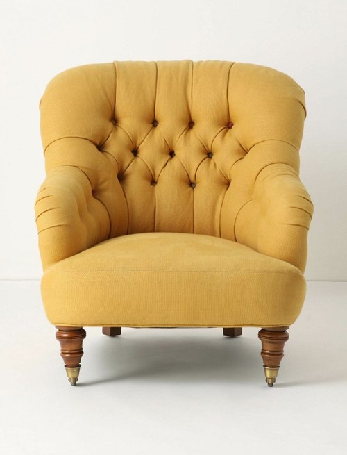 """Honey Gold Tufted Chair"""