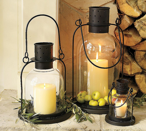 laterns with apples pottery barn Decorate Your Home For Fall