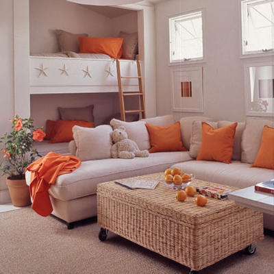 orange accents Decorate Your Home For Fall