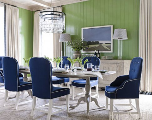 """Olympian Blue Dining Room"""