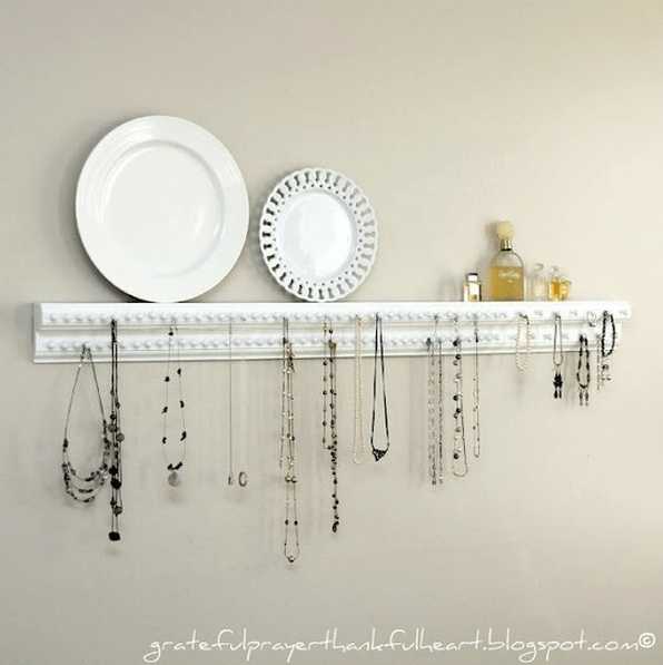 Try Adorning A Piece Of Crown Or Base Molding With Tacks. This Is A Great  Way To Display All Of You Pieces In One Place To Ensure That You Wear It  All.