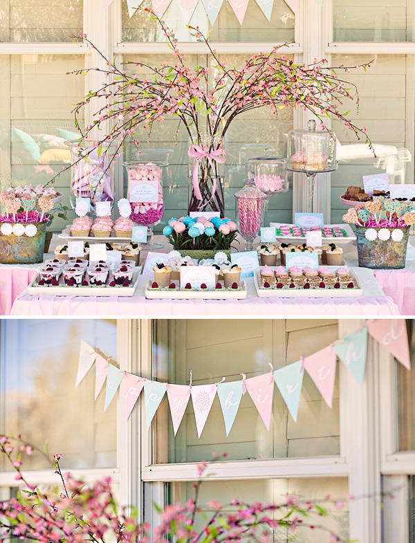 """Flower Garden Candy Buffet"""