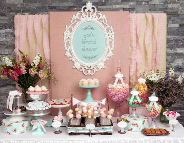 """Shabby Chic Candy Buffet"""