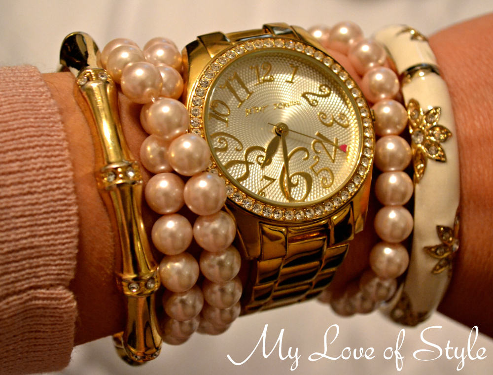 """Pearl and Gold Arm Candy"""