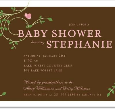 """Tiny Butterfly Baby Shower Invitations"""