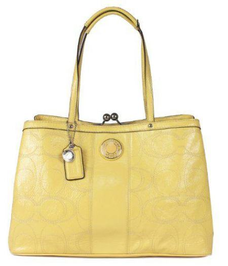 """yellow coach bag"""