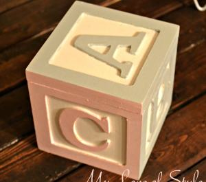 DIY Wooden ABC Block