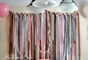 Diy Fabric Garland Backdrop My Love Of Style My Love Of Style