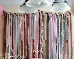 DIY fabric garland backdrop