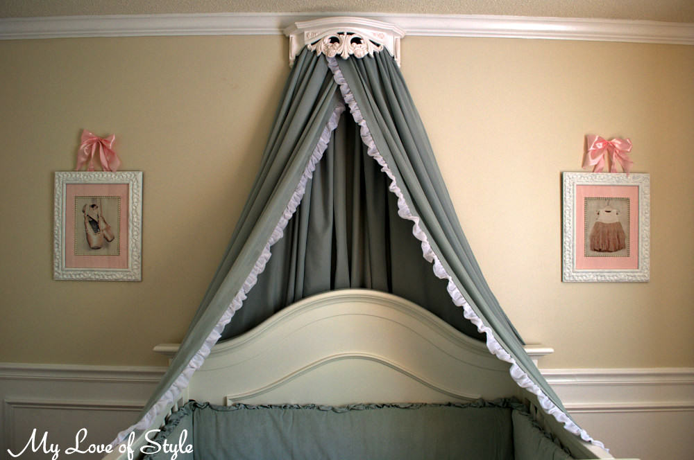How-to Make a Bed Crown u0026 Crib Canopy & DIY Bed Crown and Crib Canopy Tutorial | My Love of Style u2013 My ...