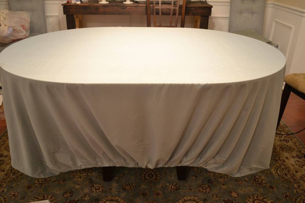 Place Fitted Sheet on Table