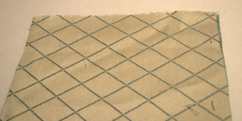 lay fabric face down