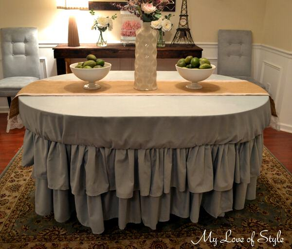 DIY Tiered Ruffle Tablecloth Tutorial