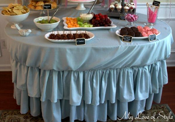 Tiered Ruffle Tablecloth Tutorial